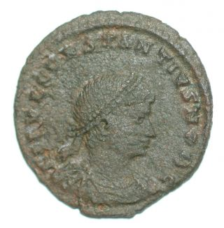Roman Bronze Coin Follis Constantius Ii Gloria Exercitus Nikomedia Rated R4 photo