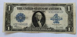 1923 $1 United States Silver Certificate Speelman/ White Large Note photo