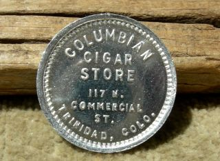 Old Trinidad Colorado (las Animas Co) Columbian Cigar Store 5c Merchant Token photo