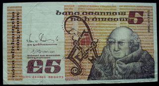 1987 Ireland Republic Central Bank 5 Pound Banknote Bill Pick 71d   6580 photo