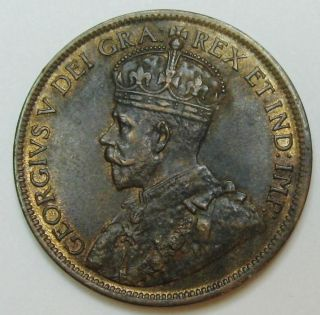 1916 Canada Large Cent King George V Grading Ch Au R/b Can1 photo
