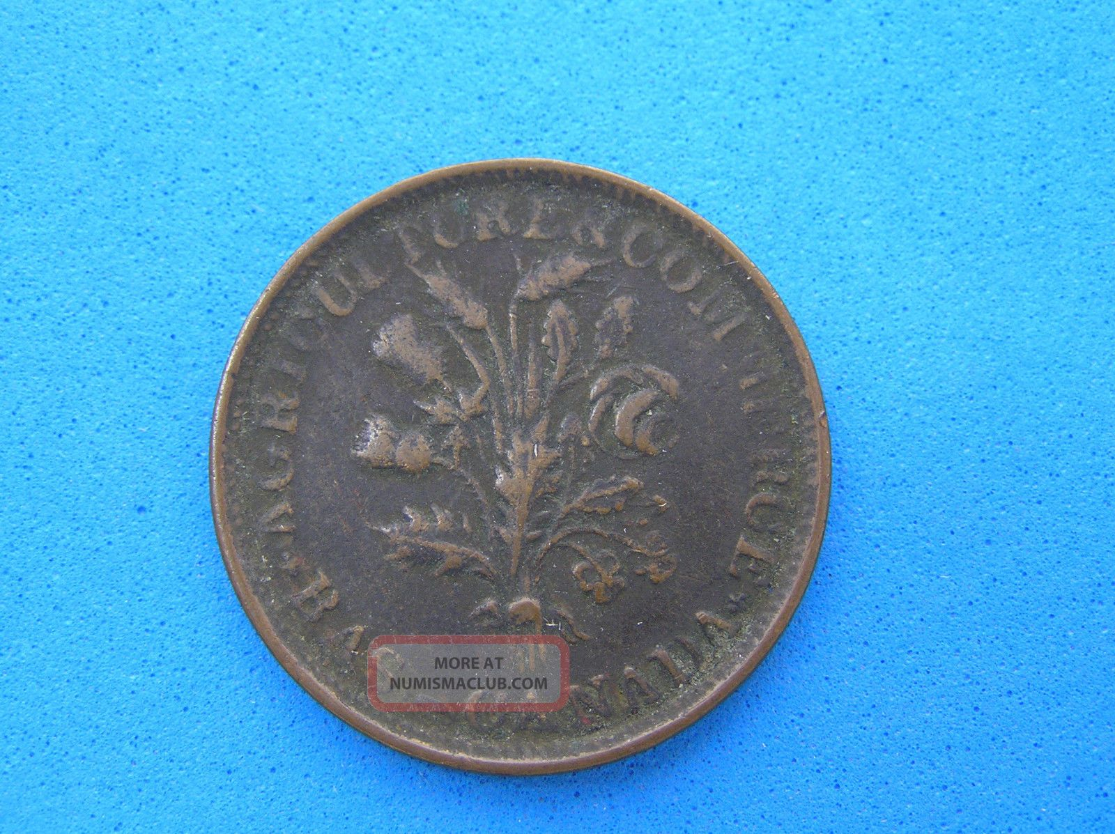 Bouquet Un Sou Token Of Lower Canada,  2 Shamrocks,  20 Leaves,  Br 704,  Lc - 33a1 Coins: Canada photo