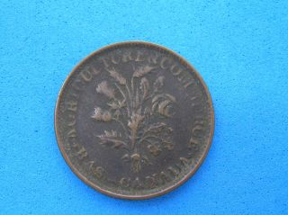 Bouquet Un Sou Token Of Lower Canada,  2 Shamrocks,  20 Leaves,  Br 704,  Lc - 33a1 photo