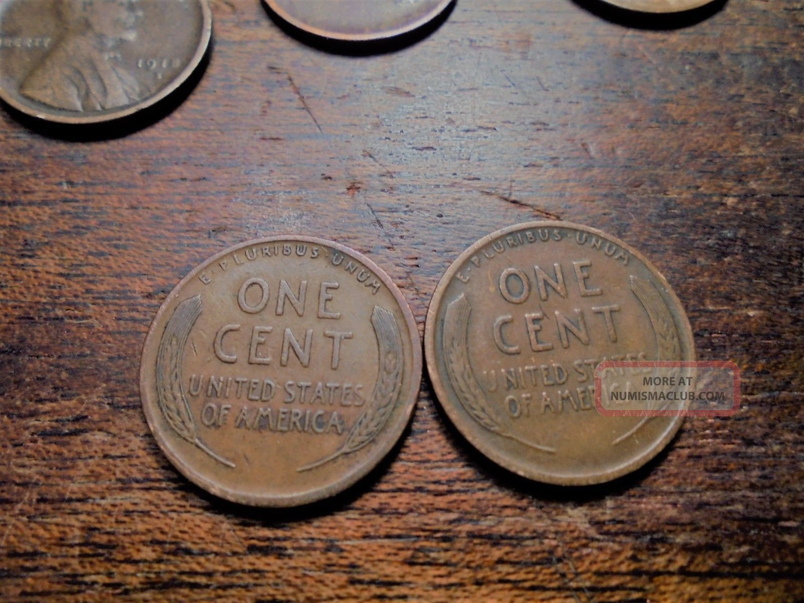 Vf Circulated 1916 P & 1918 P Lincoln Wheat Cents 1618p Small Cents photo