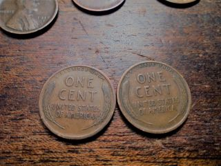 Vf Circulated 1916 P & 1918 P Lincoln Wheat Cents 1618p photo