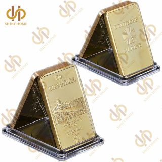 German Die Bismarck Battleship Gold Bullion Bar 1oz Germany Navy Deutsche Marine photo