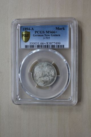 German Guinea 1 Mark 1894 Pcgs Grade Ms 66,  Nsw - Leipzig photo