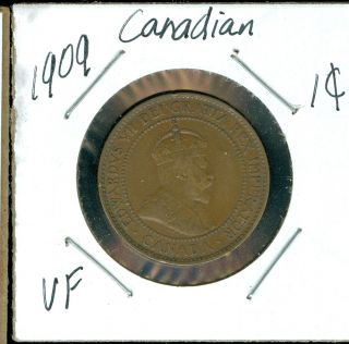 1909 Canada 1 Cent Vf. photo