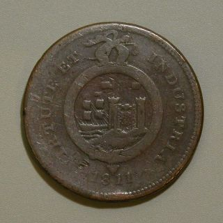 1811 British Bristol & South Wales One Penny Token photo