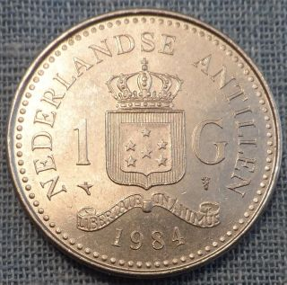 Netherlands Antilles 1984 1 Gulden Km 24 photo
