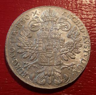 Austria / 1780 S.  F.  Silver Thaler Maria Theresa Milano photo