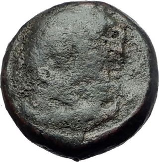 Sardes In Lydia 133bc Hercules Apollo Raven Authentic Ancient Greek Coin I61093 photo