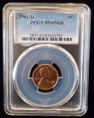 1961 - D Pcgs Ms65rd Red Lincoln Memorial Cent photo