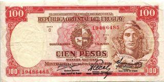 Uruguay 1939 100 Pesos Banknote photo