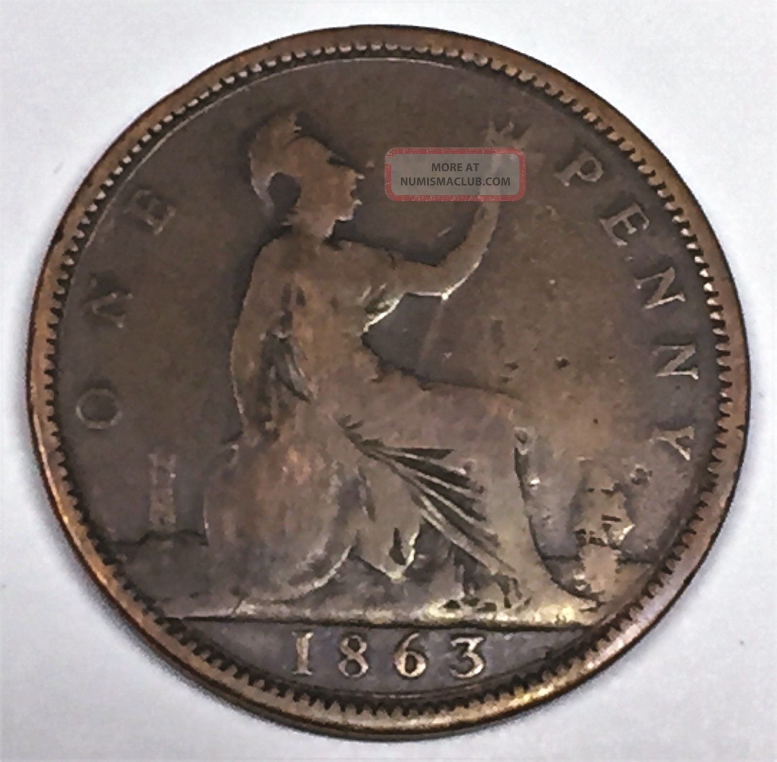 C3107 Great Britain Coin Large Penny 1863