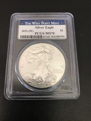 2015 - (w) Silver Eagle Pcgs Ms70 Struck At West Point photo