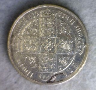 Great Britain Florin 2 Shillings 1875 (die 47) Silver Coin (stock 0036) photo