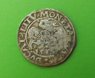 Lithuania Poland 1559 Silver 1/2 Grosz Sigismund Ii Augustus Silver Medieval Coi photo
