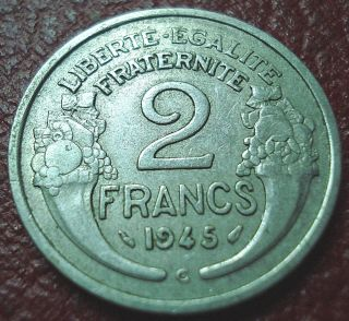 1945 - C France 2 Francs In Vf photo