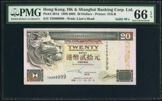$20 1998 - 2002 Hong Kong & Shanghai Banking Corp.