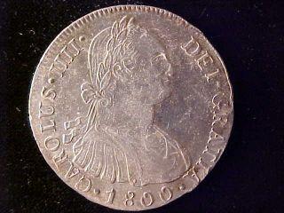 Peru Charles Iiii 8 Reales 1800ij Au photo