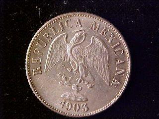Decimal 20 Centavos 1902 Cn Q Bu photo