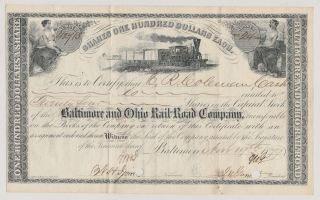Baltimore And Ohio Rail - Road Company.  1879.  Issued/signed/cancelled. photo