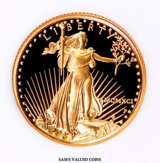 1995 - W American Gold Proof Eagle $10 Ngc Pf 70 Ultra Cameo - 1/4 Oz Gold photo