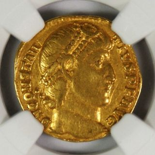 Ancient Roman Empire Constantius Ii Gold Solidus Ad 337 - 361 Ngc Vf photo
