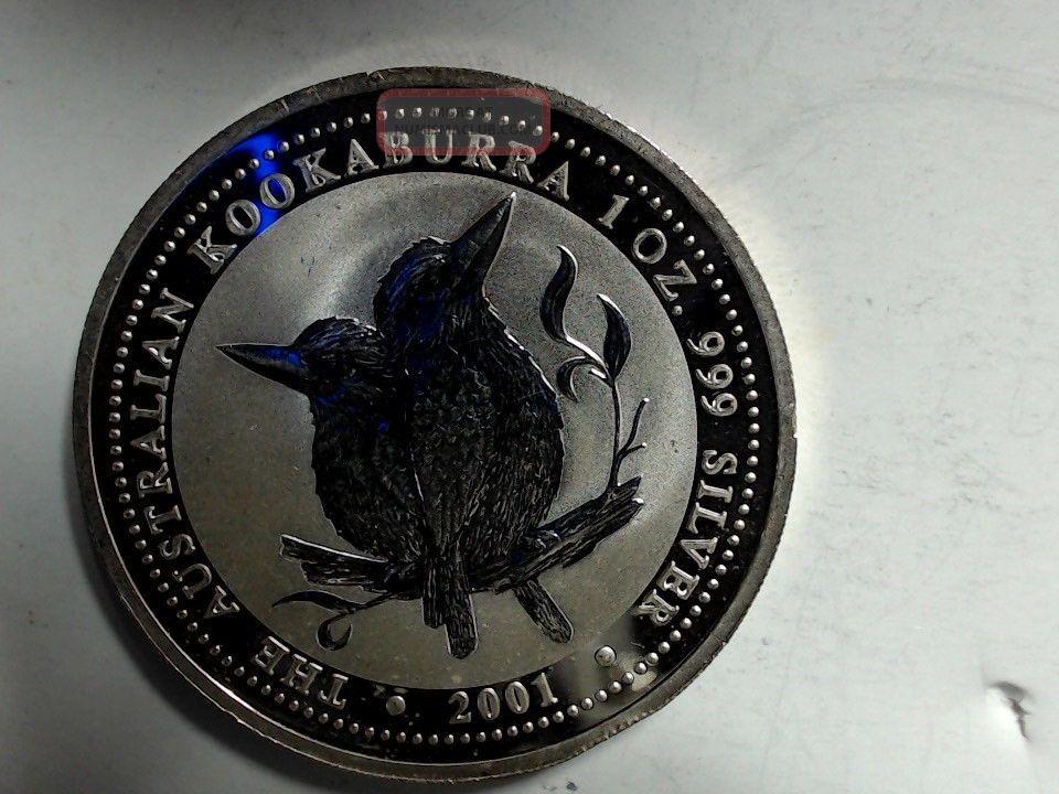 2001 Australia Kookaburra Birds 1 Ounce Silver Coin