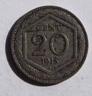 Italy 20 Centesimi 1918 - Vittorio Emanuele Iii photo