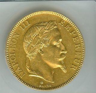 France 1869 - A Gold 100 Francs Km 802.  1 Icg Ms - 62 Rare photo