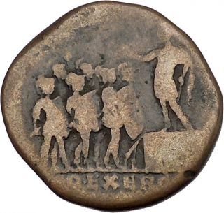 Commodus Addresses Soldiers 185ad Poss Unpublished Sestertius Roman Coin I42182 photo