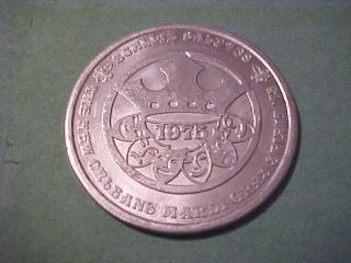 1975 Schlitz Beer Mardi Gras Token photo