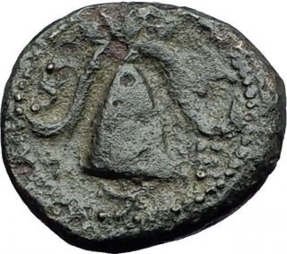 Alexander Iii The Great 325bc Macedonia Shield Helmet Ancient Greek Coin I59710 photo