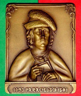 Astrologer / Phsician/alchemist / Paracelsus/ Bronze Medal By Antunes photo