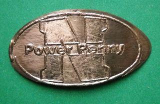 N Power Penny Elongated Penny Nebraska? Usa Cent Souvenir Coin photo