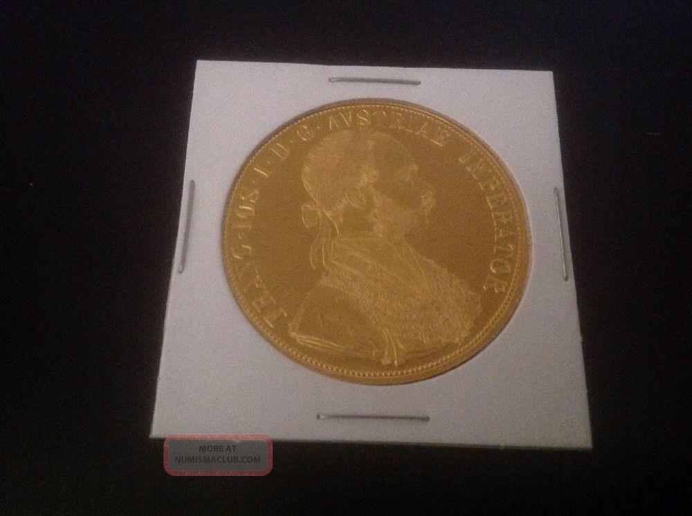 1915 Austrian 4 Ducat 4438 Oz Gold Coin