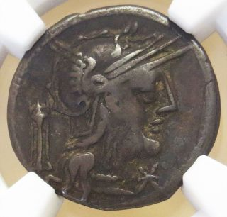 C.  131 Bc Silver Roman Republic Denarius M.  Opeimius Coin Ngc Choice Fine photo