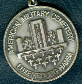 1971 Luxembourg Medal Issued In Honor Of The American Military Cemetery photo