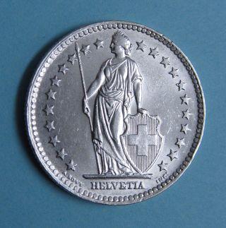 1964 - B Switzerland 2 Francs Silver photo