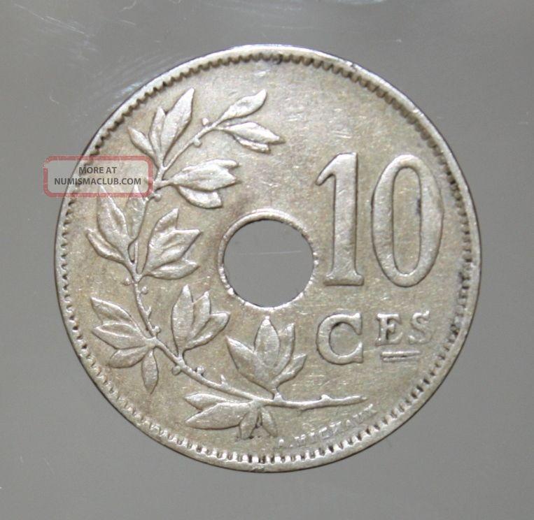 Belgium 10 Centimes 1923 Very Fine,  Coin Belgium photo