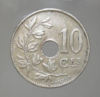 Belgium 10 Centimes 1923 Very Fine,  Coin photo