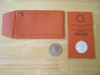 Expo 67 The Official Commemorative Medal Canada,  Man And His World Nickel - Silver photo