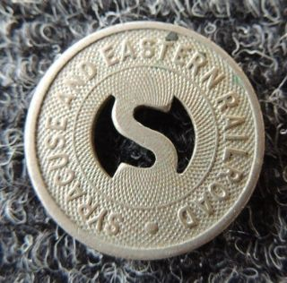 Syracuse & Eastern Railroad Transportation Token Scarce One photo