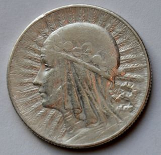 Poland 5 Zlotych,  1933,  Queen Jadwiga,  Silver. photo