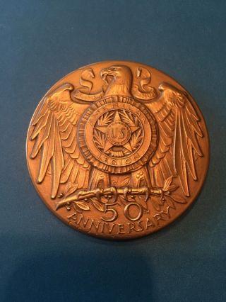 American Legion 50th Anniversary 64mm Bronze Medal photo