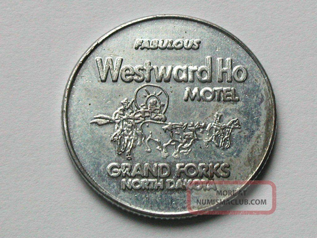 Westward Ho Motel Grand Forks North Dakota Good Luck Horseshoe Token Coin Nd Inn Exonumia photo