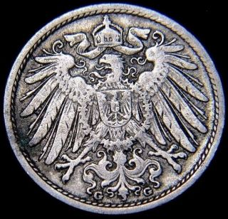 Germany 1901 - G 10 Pfennig German Empire Coin (rl 1357) photo