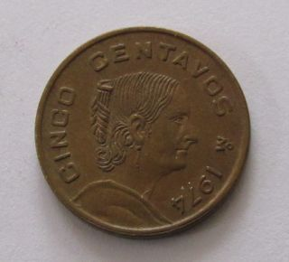 Mexico 5 Centavos,  1974 photo